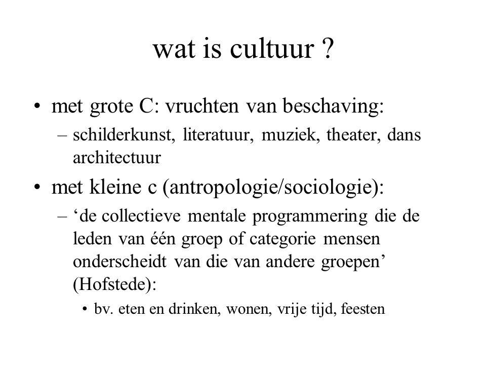 wat is cultuur met grote C: vruchten van beschaving: