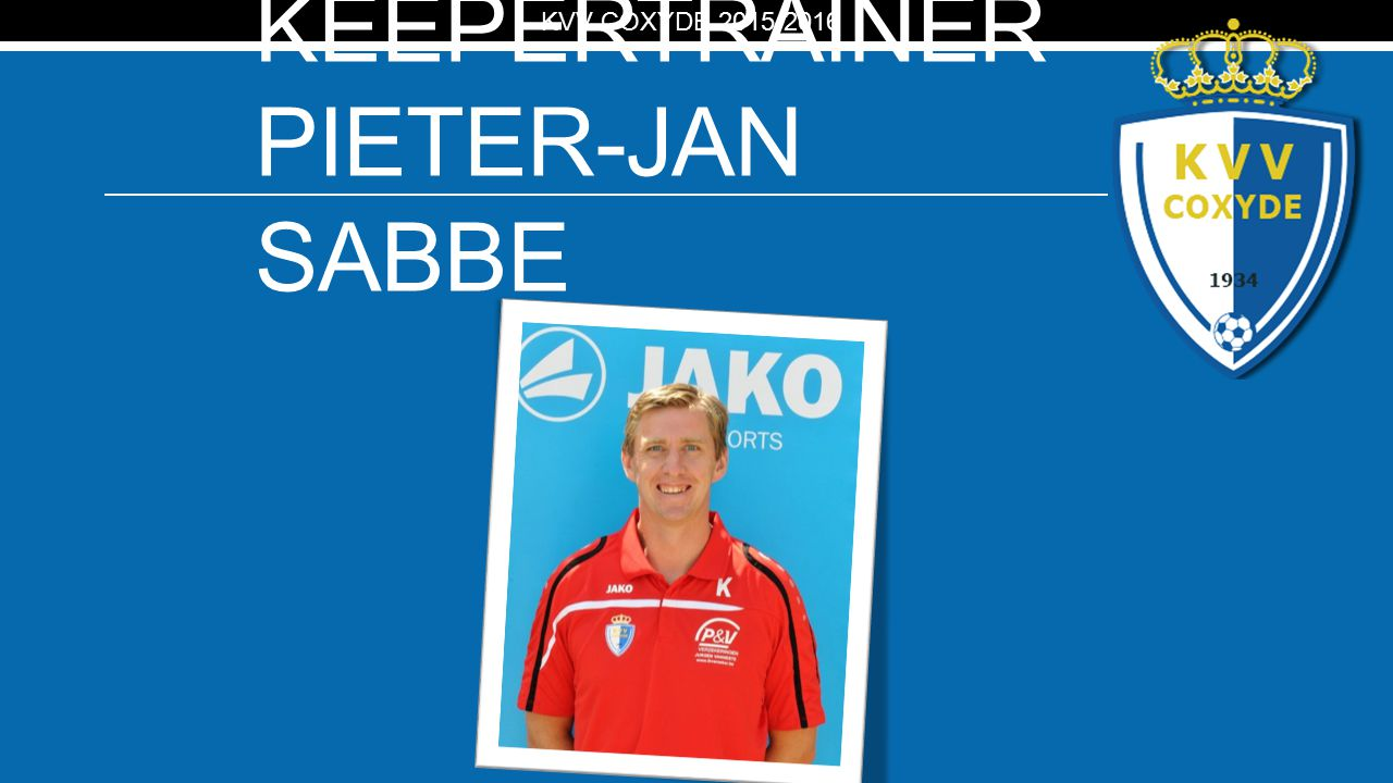 Keepertrainer PIETER-JAN SABBE