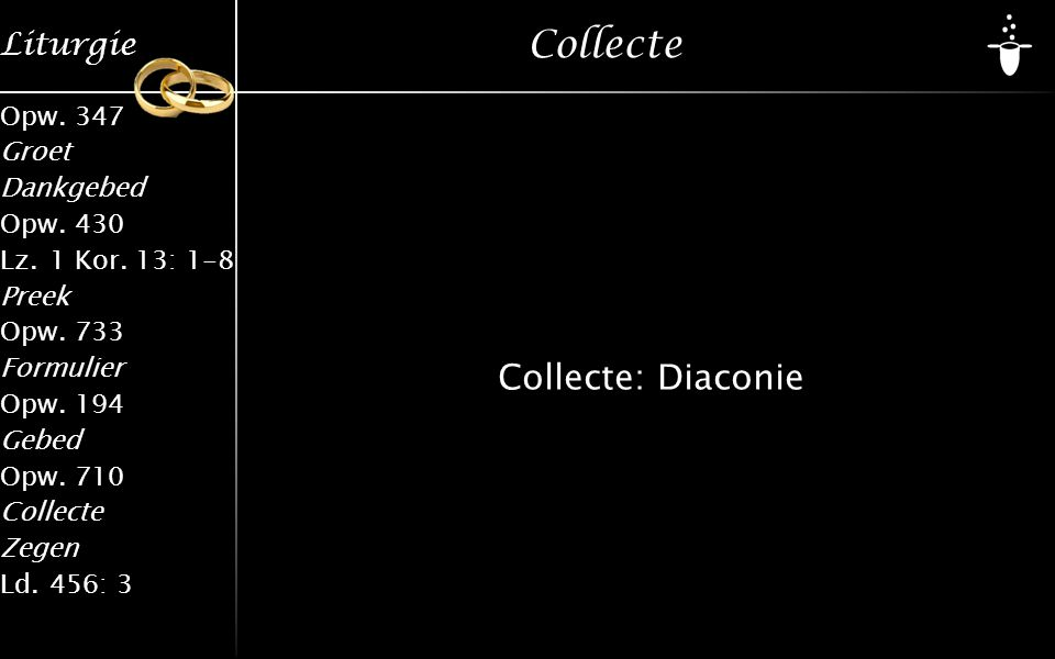 Collecte Collecte: Diaconie