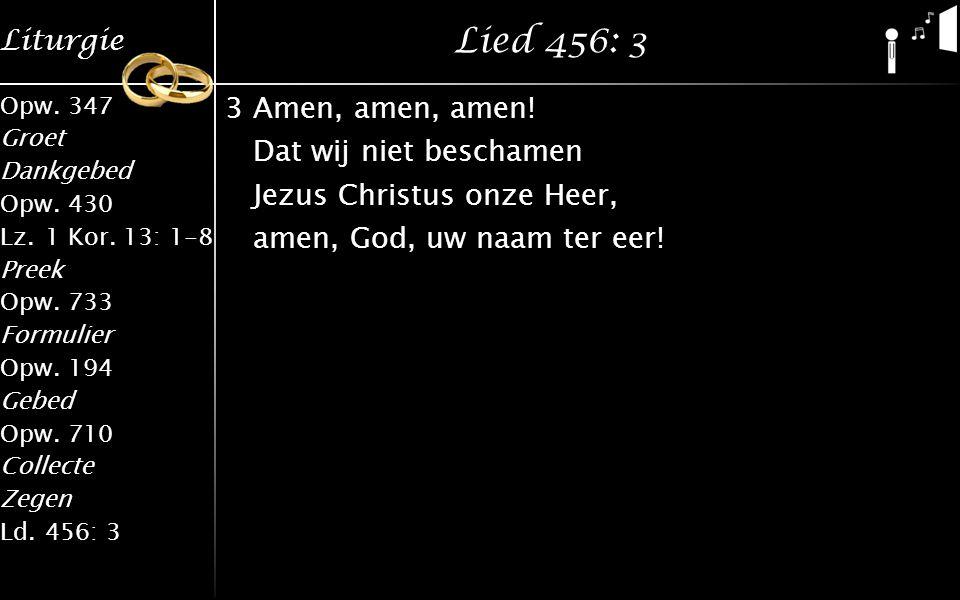 Lied 456: 3 3 Amen, amen, amen.