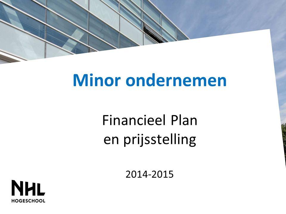 Minor ondernemen Financieel Plan en prijsstelling 2014-2015