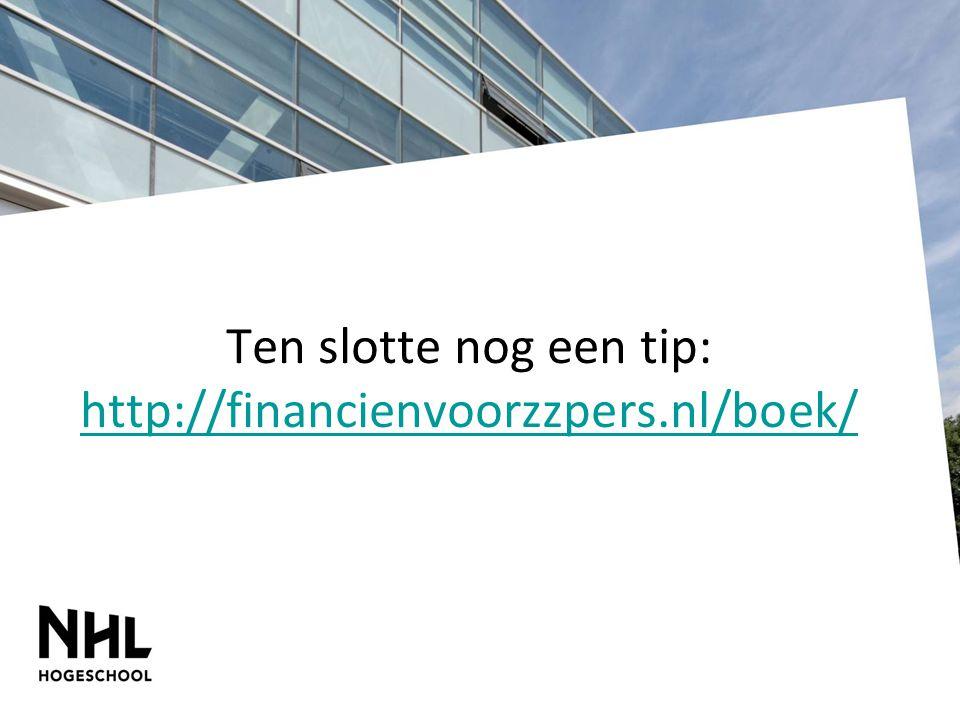 Ten slotte nog een tip: http://financienvoorzzpers.nl/boek/