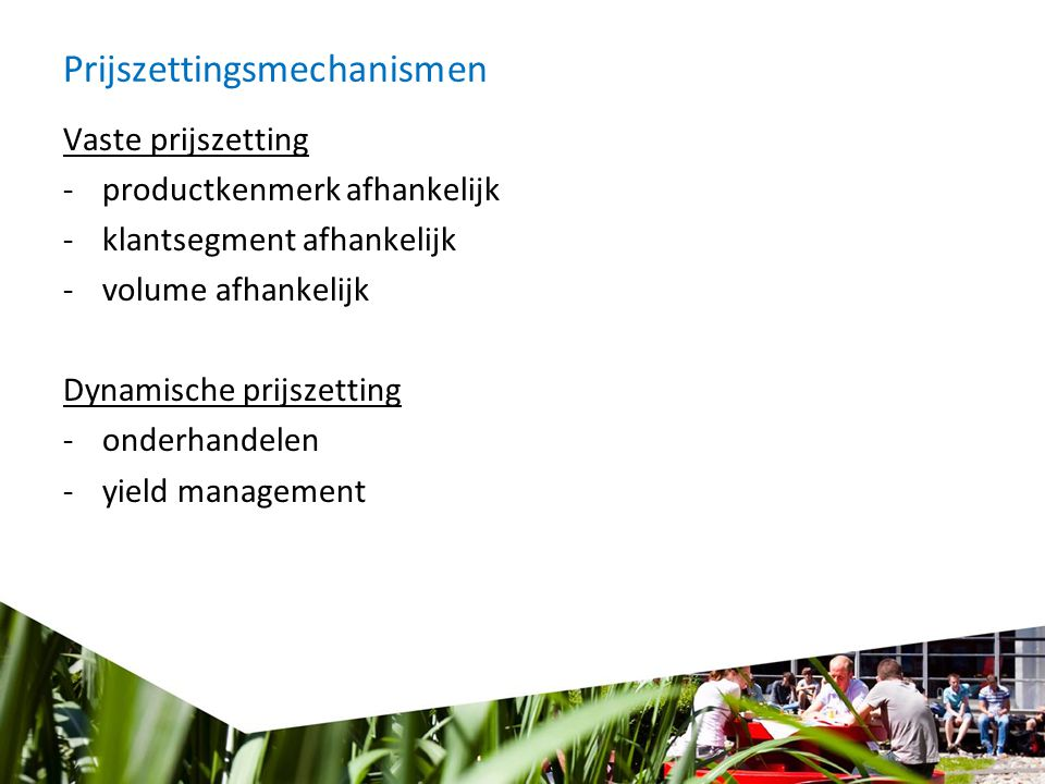 Prijszettingsmechanismen