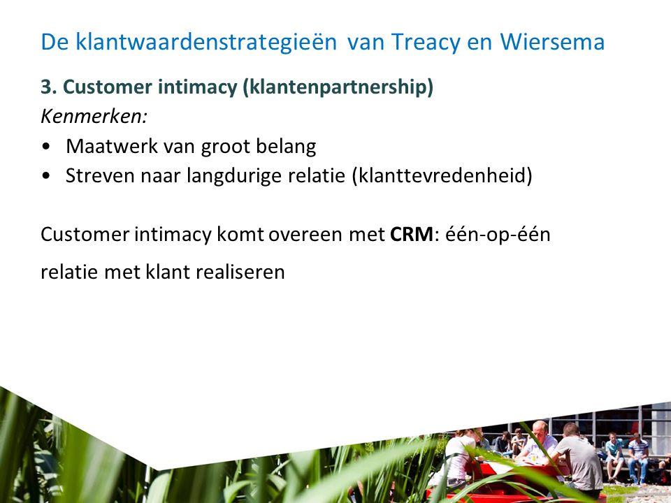 De klantwaardenstrategieën van Treacy en Wiersema