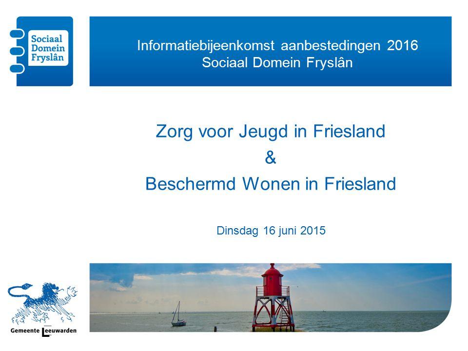 Informatiebijeenkomst aanbestedingen 2016 Sociaal Domein Fryslân