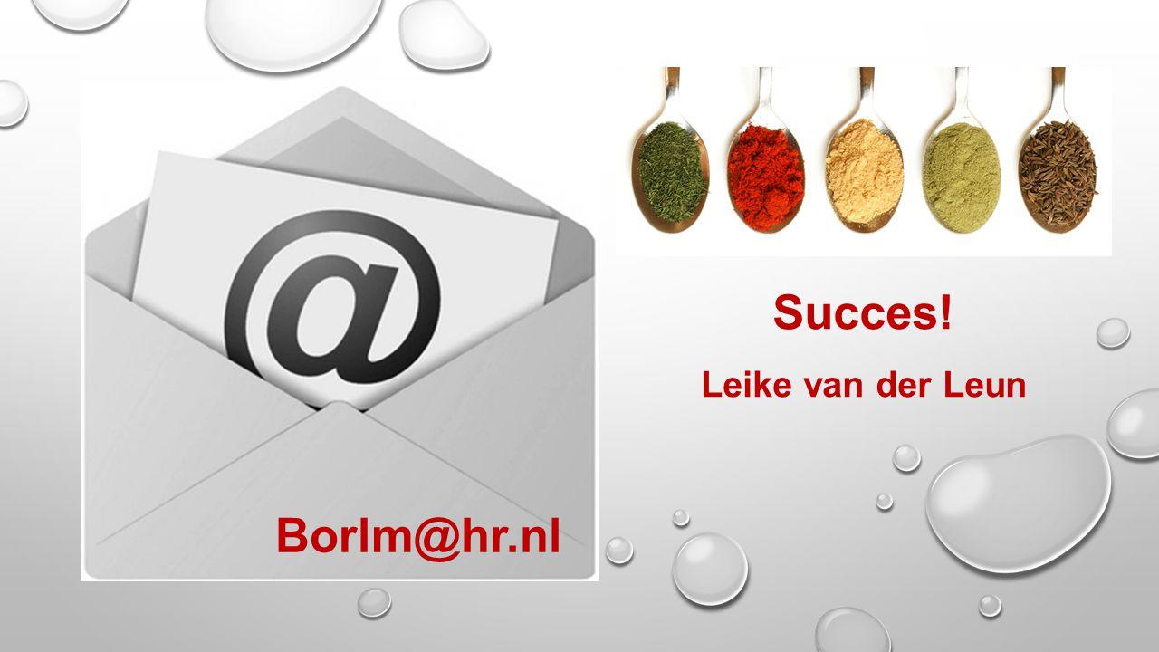 Succes! Leike van der Leun