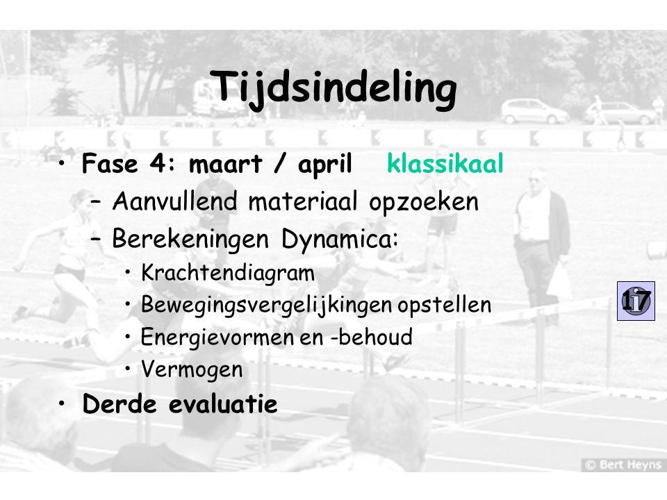 Tijdsindeling Fase 4: maart / april klassikaal