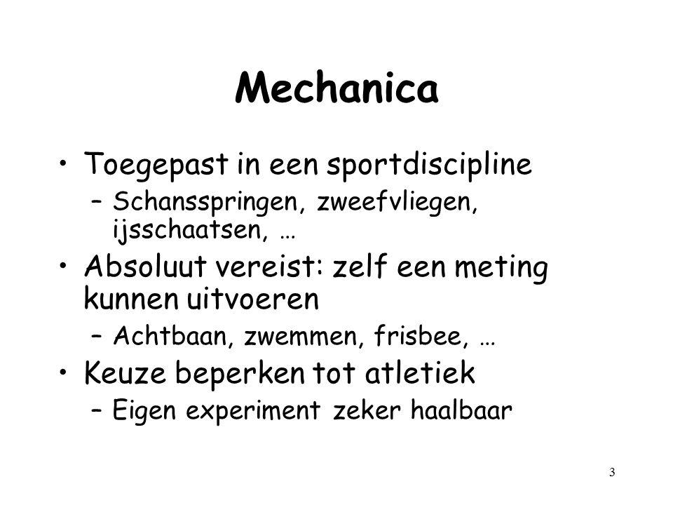 Mechanica Toegepast in een sportdiscipline