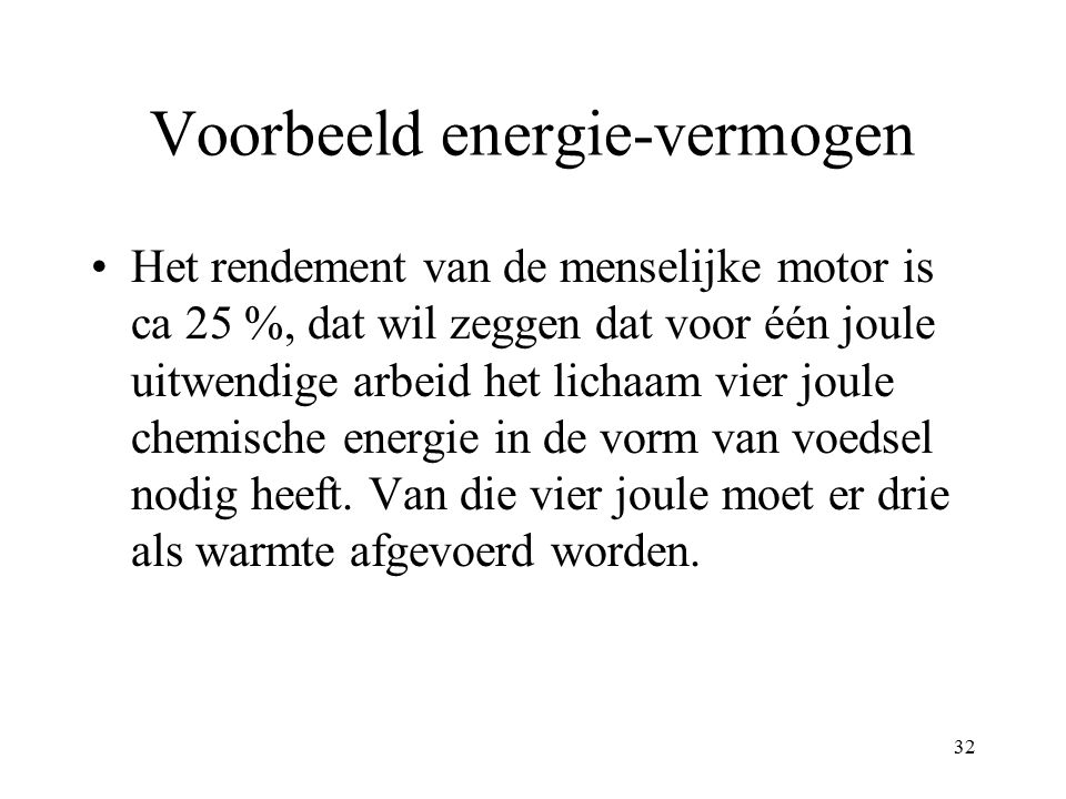 Voorbeeld energie-vermogen