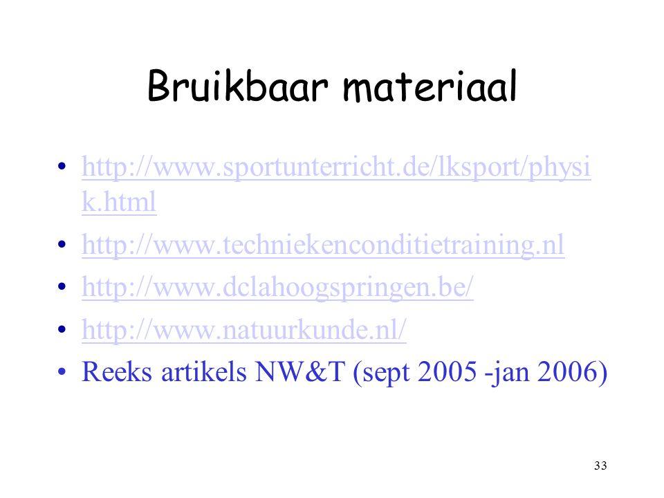 Bruikbaar materiaal http://www.sportunterricht.de/lksport/physik.html