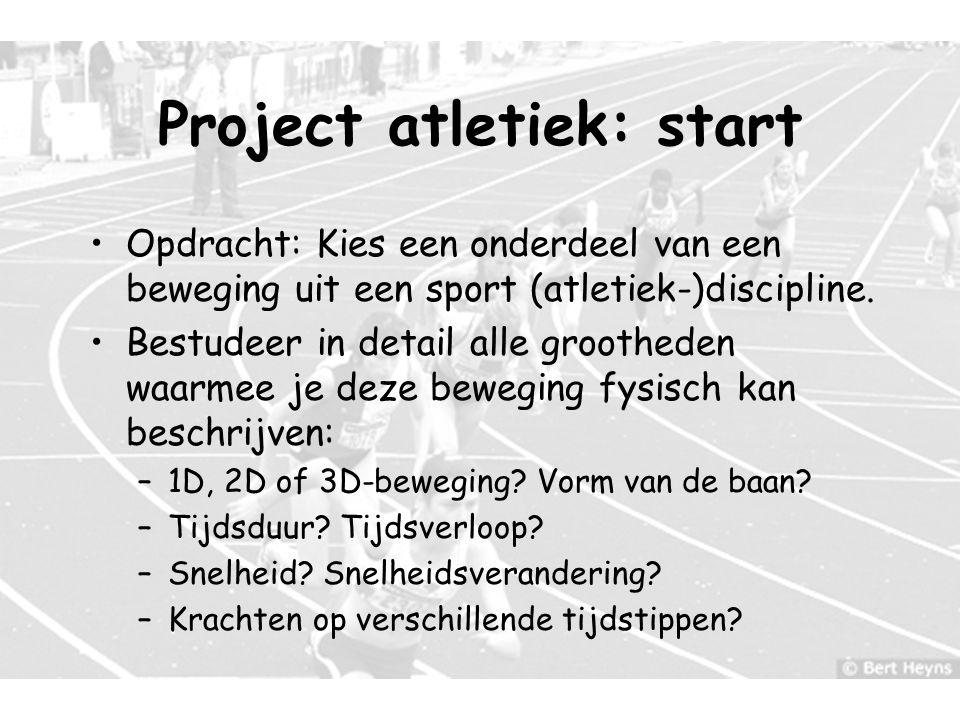 Project atletiek: start