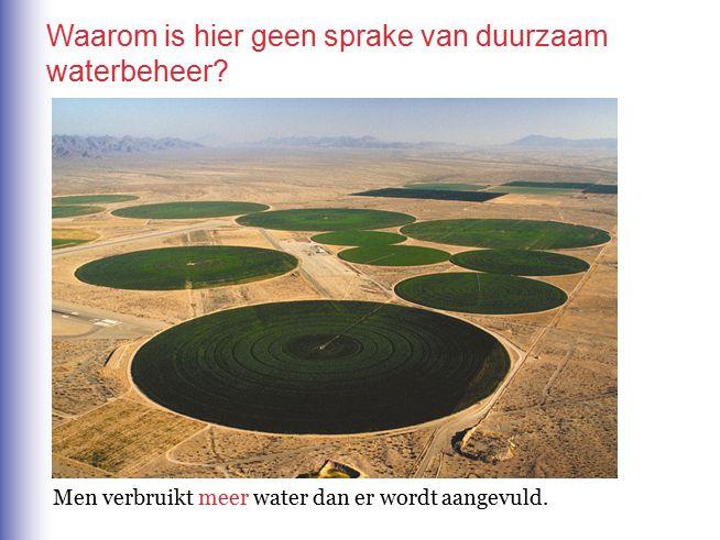 Waarom is hier geen sprake van duurzaam waterbeheer