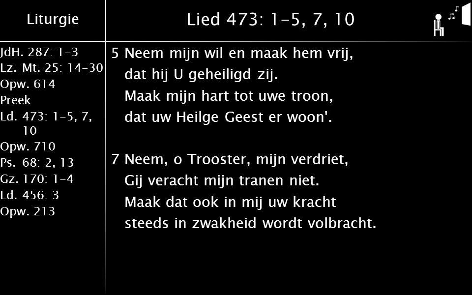 Lied 473: 1-5, 7, 10