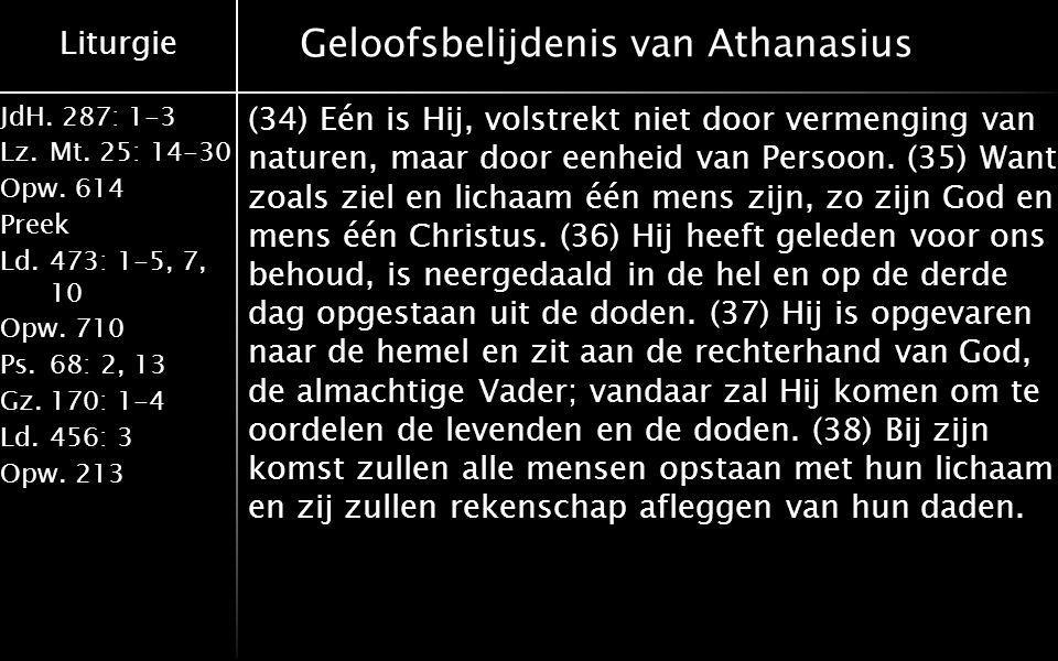 Geloofsbelijdenis van Athanasius