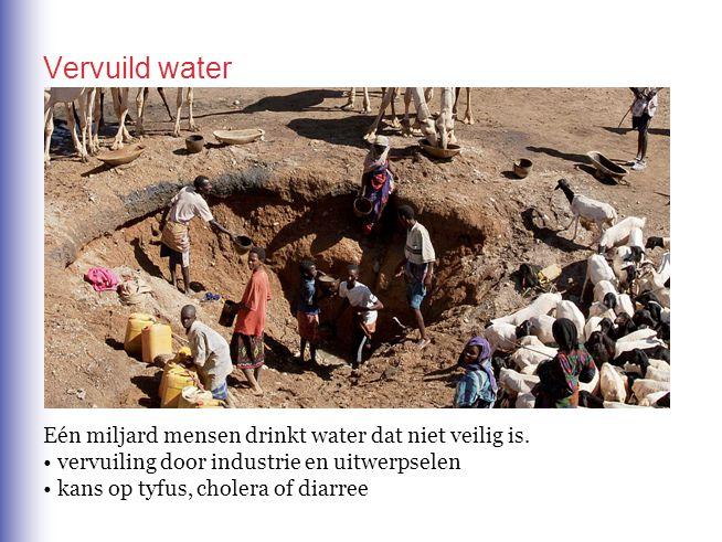 Vervuild water Eén miljard mensen drinkt water dat niet veilig is.