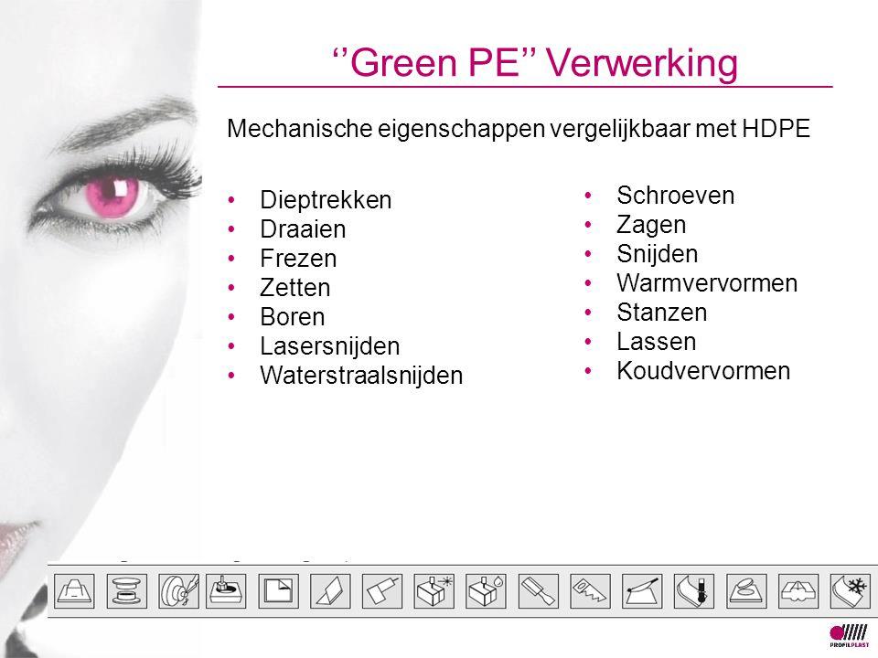 ''Green PE'' Verwerking