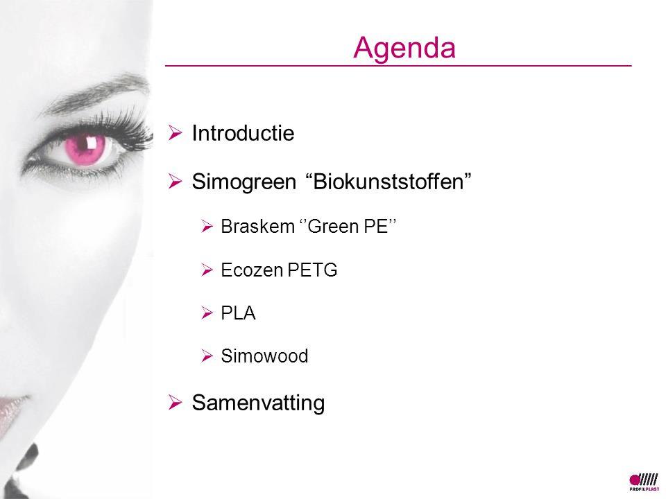 Agenda Introductie Simogreen Biokunststoffen Samenvatting