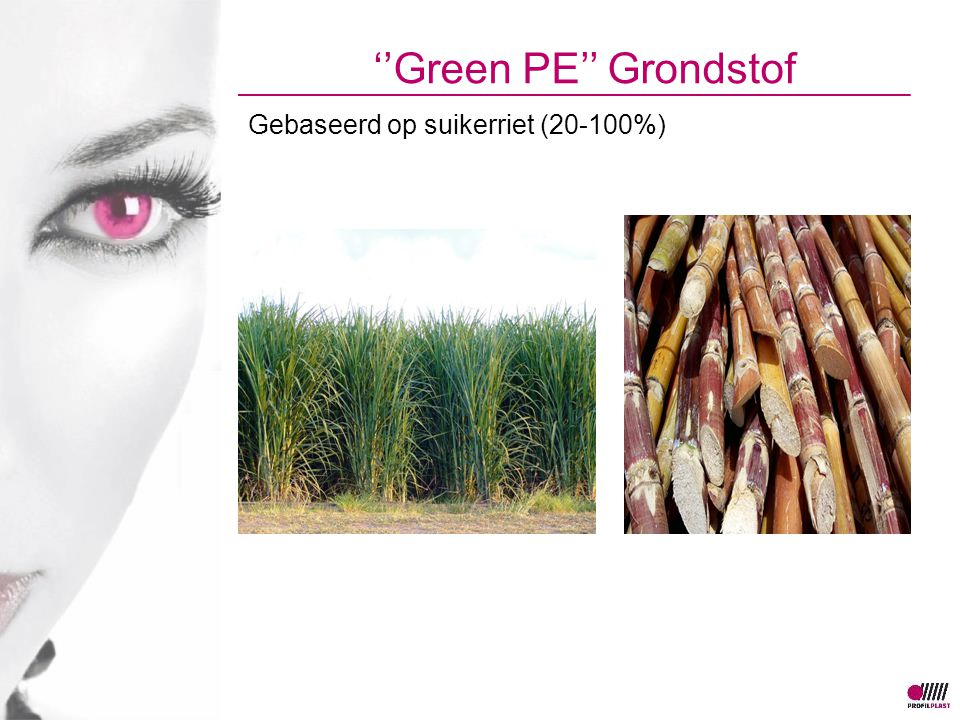 ''Green PE'' Grondstof