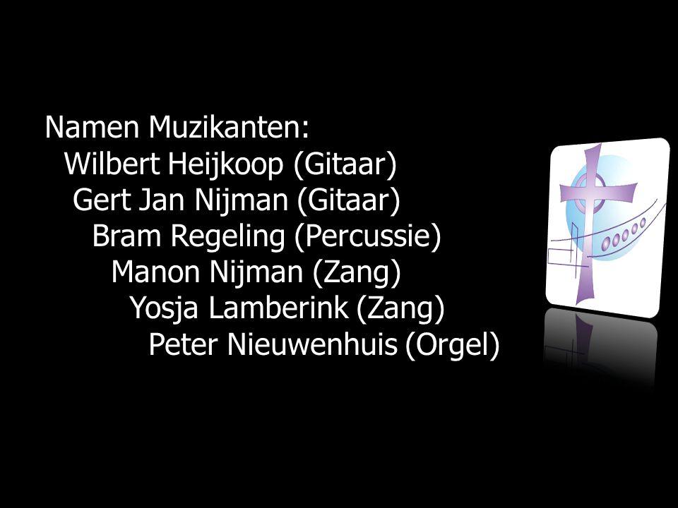 Namen Muzikanten: Wilbert Heijkoop (Gitaar) Gert Jan Nijman (Gitaar) Bram Regeling (Percussie) Manon Nijman (Zang)