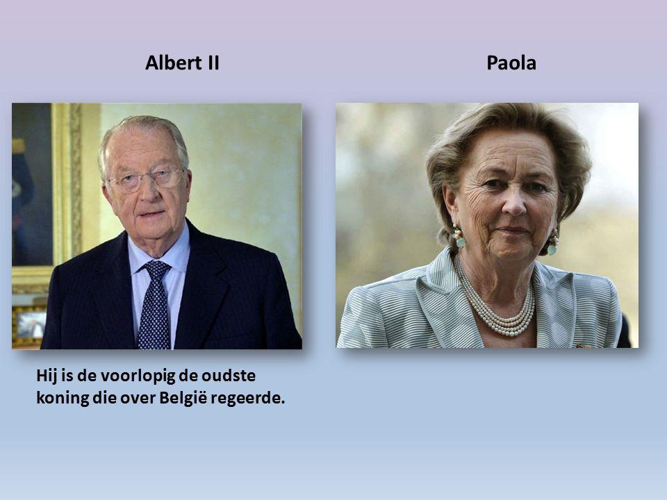 Albert II Paola Hij is de voorlopig de oudste koning die over België regeerde.