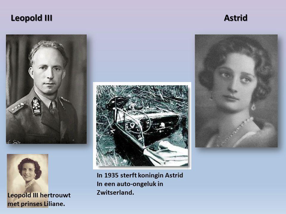 Leopold III Astrid In 1935 sterft koningin Astrid
