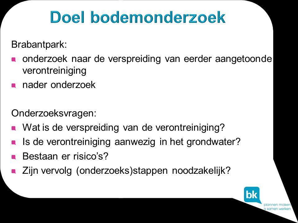 Doel bodemonderzoek Brabantpark: