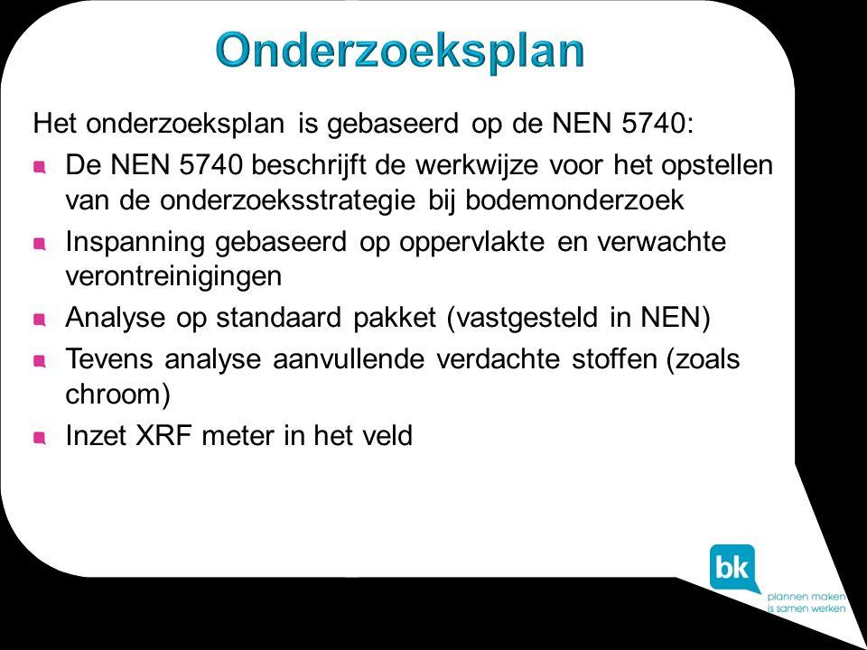 Onderzoeksplan Het onderzoeksplan is gebaseerd op de NEN 5740: