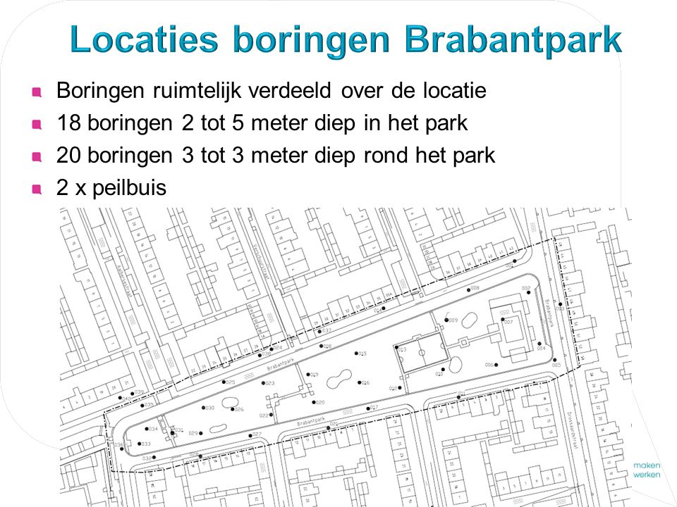 Locaties boringen Brabantpark