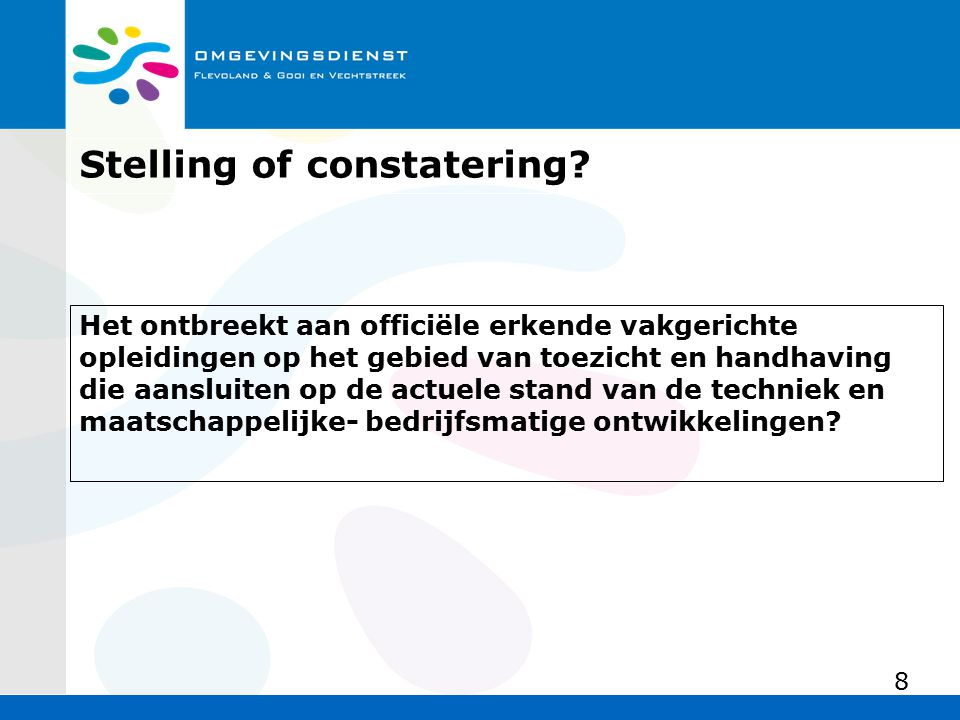 Stelling of constatering