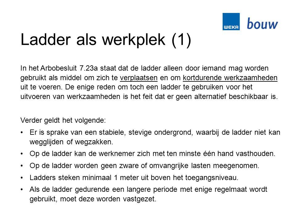 Ladder als werkplek (1)