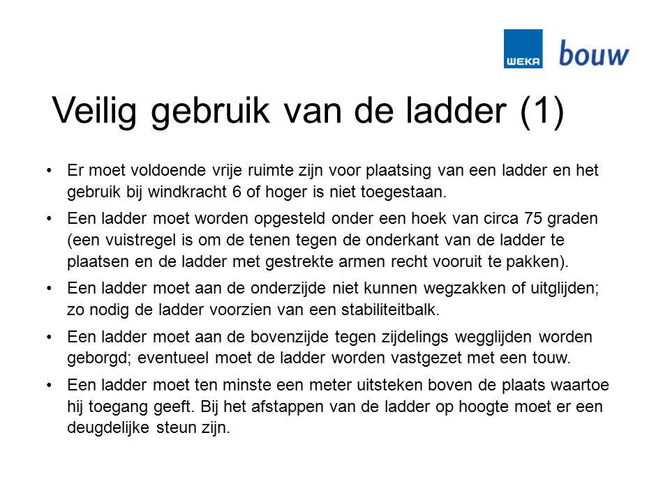 Veilig gebruik van de ladder (1)