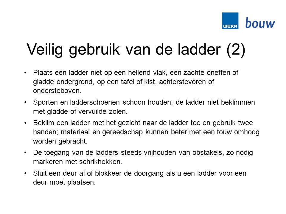 Veilig gebruik van de ladder (2)