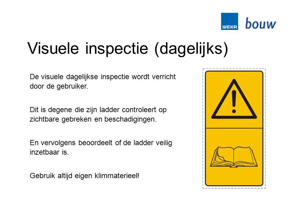 Visuele inspectie (dagelijks)