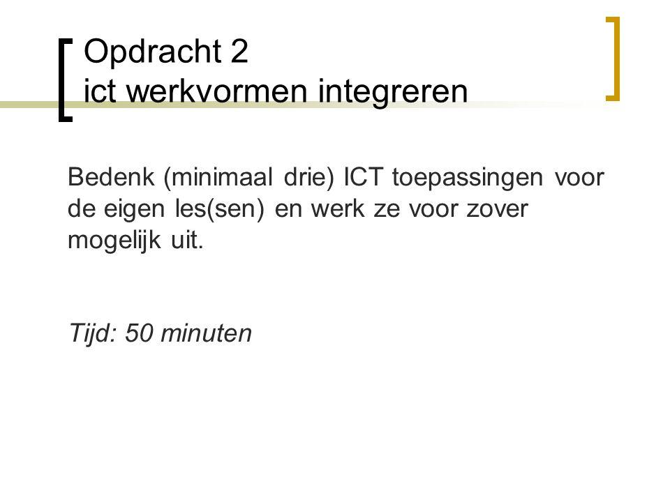 Opdracht 2 ict werkvormen integreren