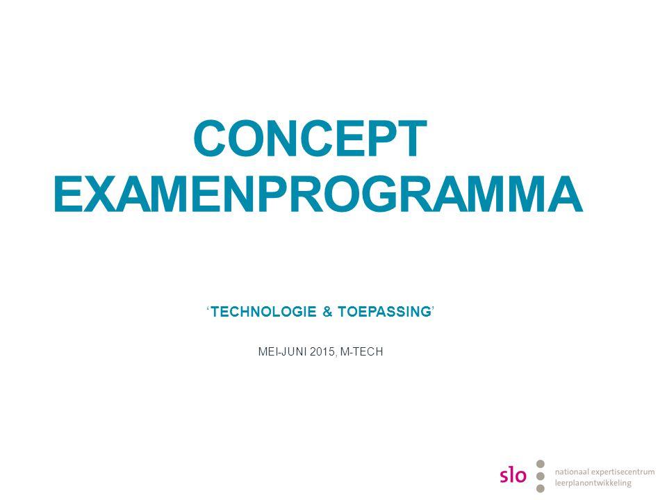 Concept examenprogramma