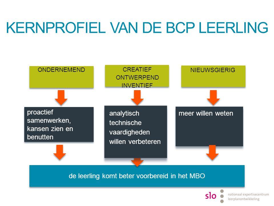 KernProfiel van de BCP leerling