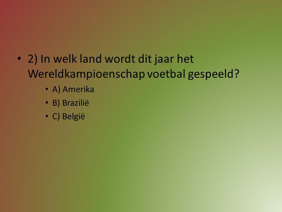 2) In welk land wordt dit jaar het Wereldkampioenschap voetbal gespeeld