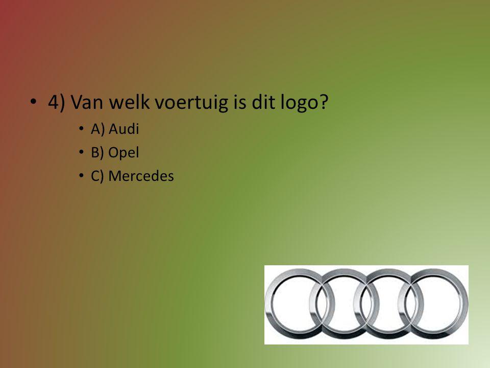 4) Van welk voertuig is dit logo