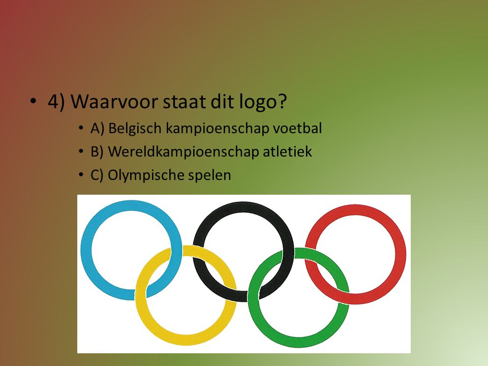 4) Waarvoor staat dit logo