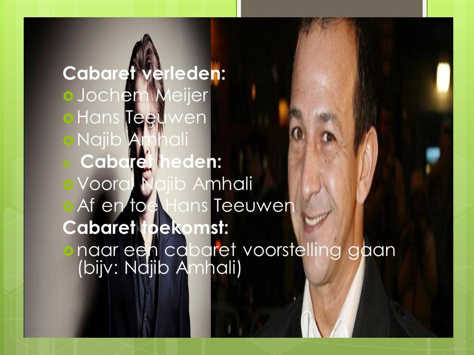 naar een cabaret voorstelling gaan (bijv: Najib Amhali)