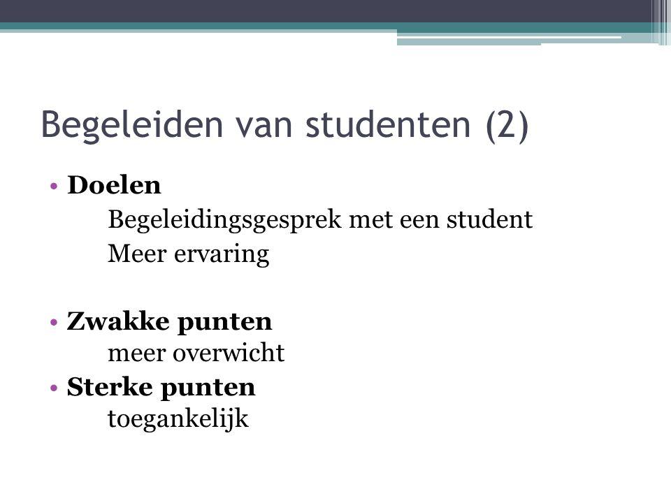 Begeleiden van studenten (2)