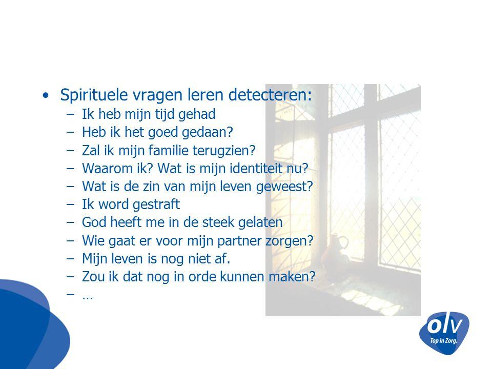 Spirituele vragen leren detecteren: