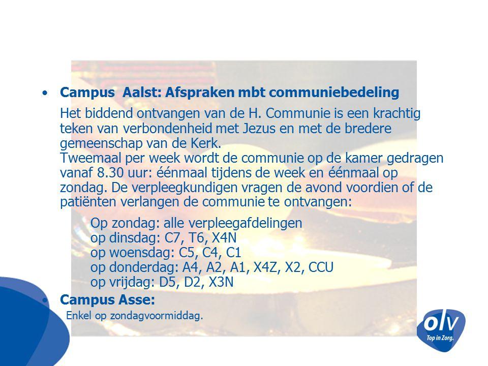 Campus Aalst: Afspraken mbt communiebedeling
