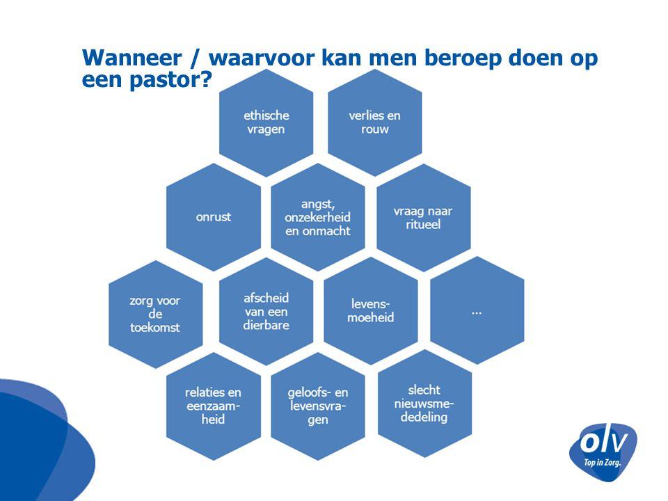 Wanneer / waarvoor kan men beroep doen op een pastor