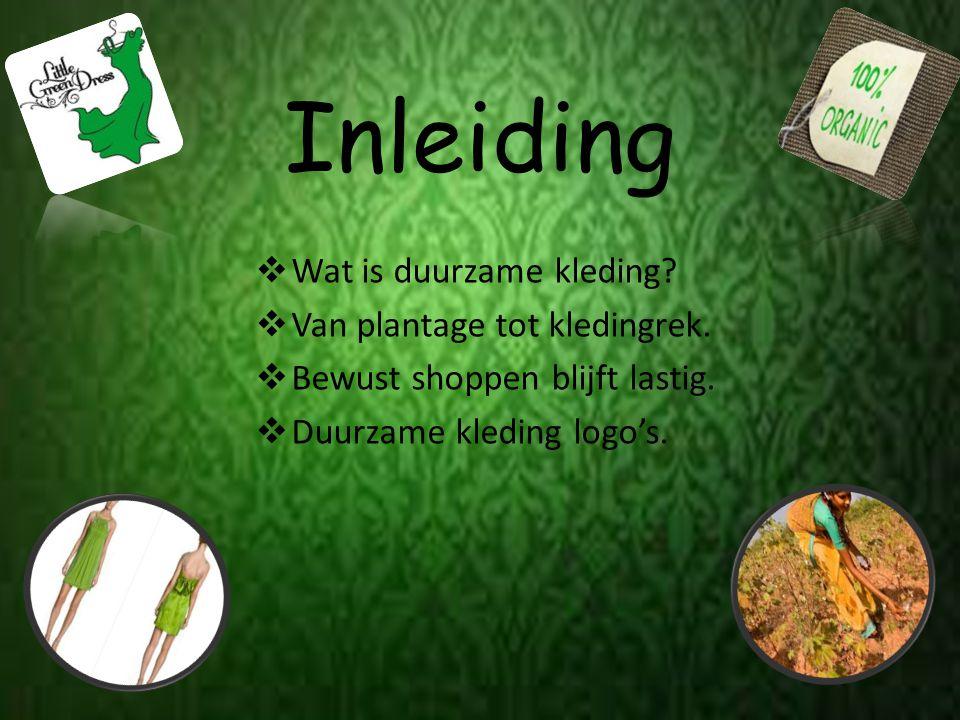 Inleiding Wat is duurzame kleding Van plantage tot kledingrek.