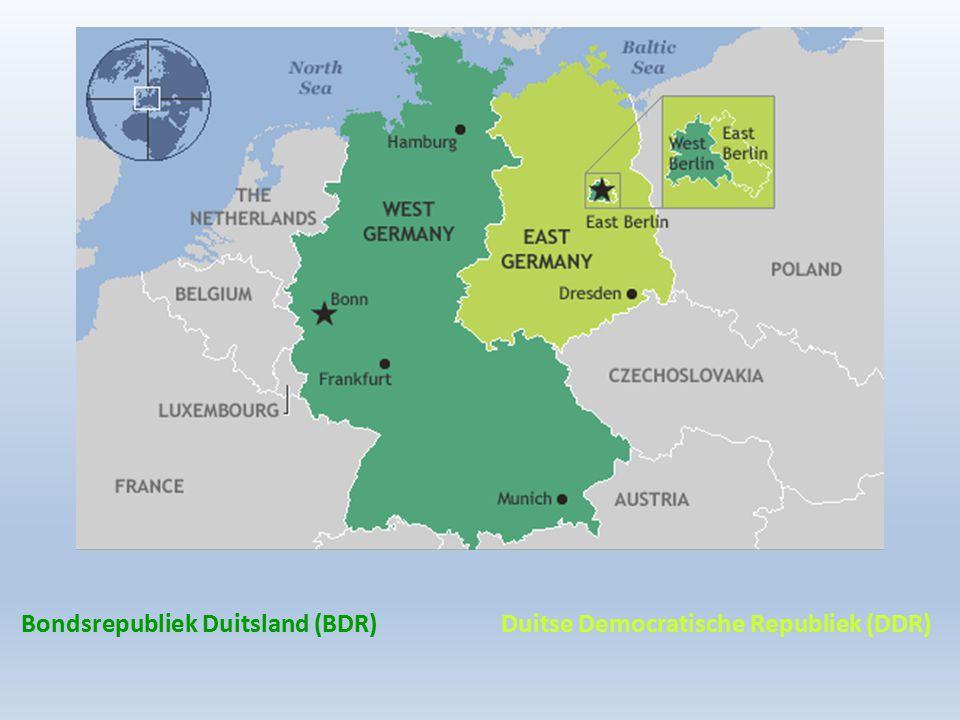 Bondsrepubliek Duitsland (BDR) Duitse Democratische Republiek (DDR)