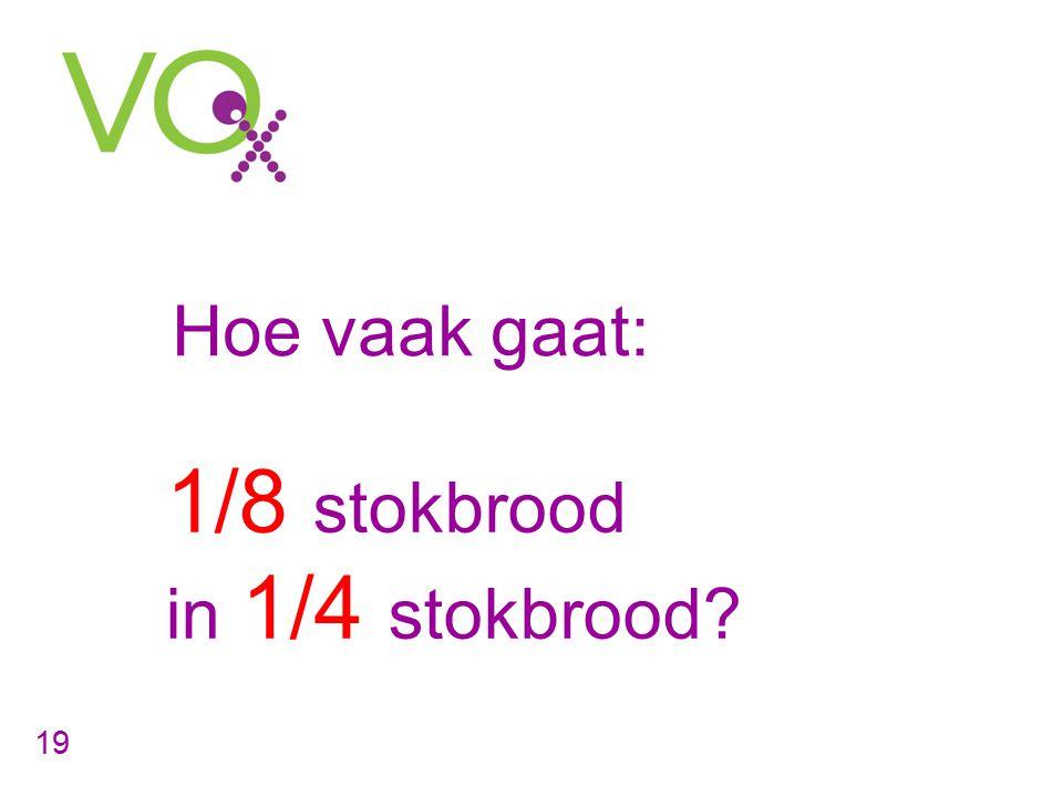 1/8 stokbrood Hoe vaak gaat: in 1/4 stokbrood 19