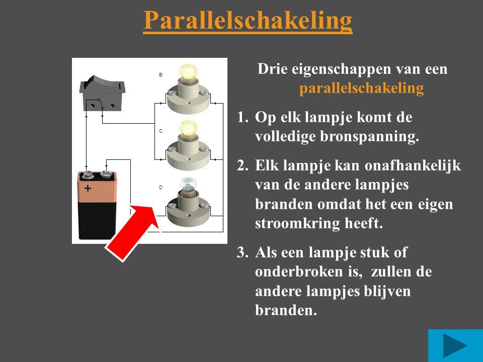 Drie eigenschappen van een parallelschakeling