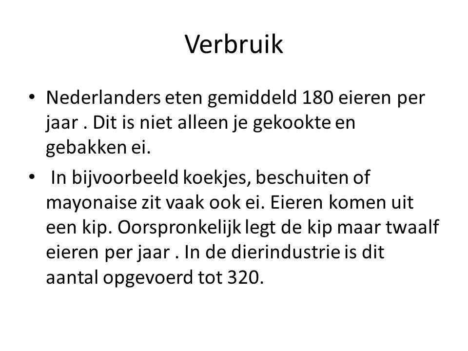 Verbruik Nederlanders eten gemiddeld 180 eieren per jaar . Dit is niet alleen je gekookte en gebakken ei.
