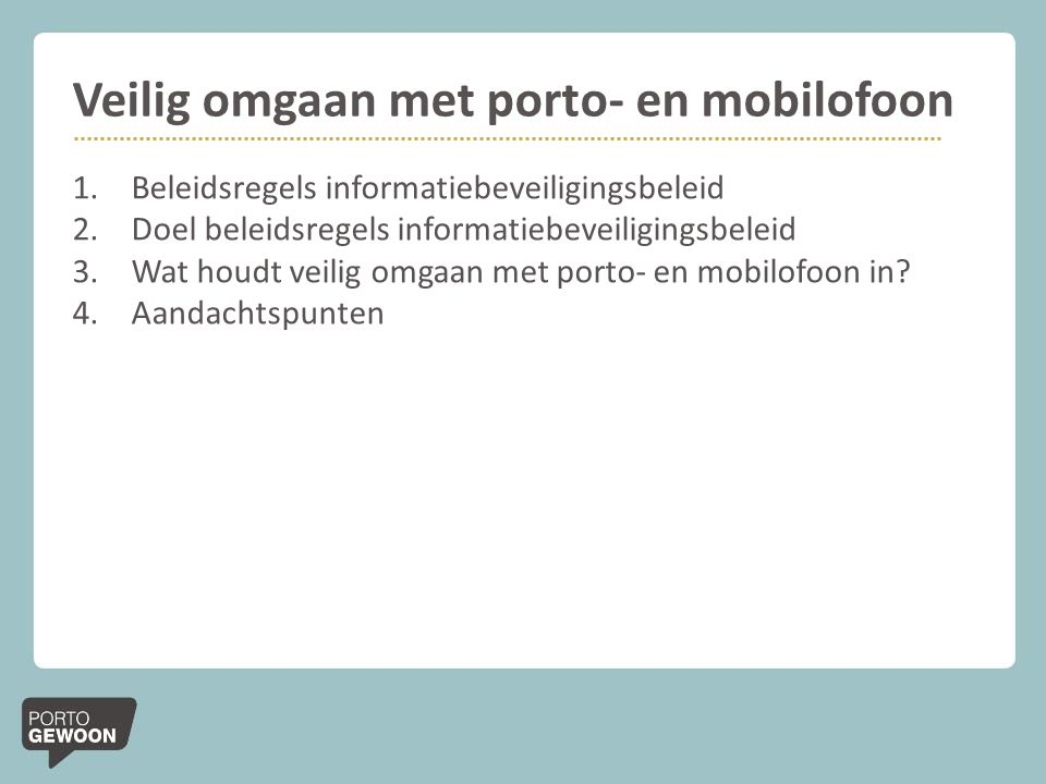 Veilig omgaan met porto- en mobilofoon